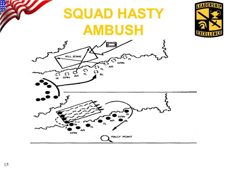 15 SQUAD HASTY AMBUSH