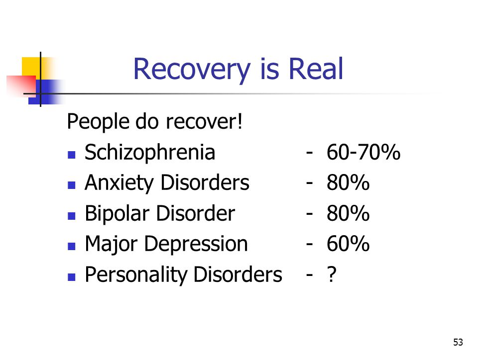 53 Recovery is Real People do recover.