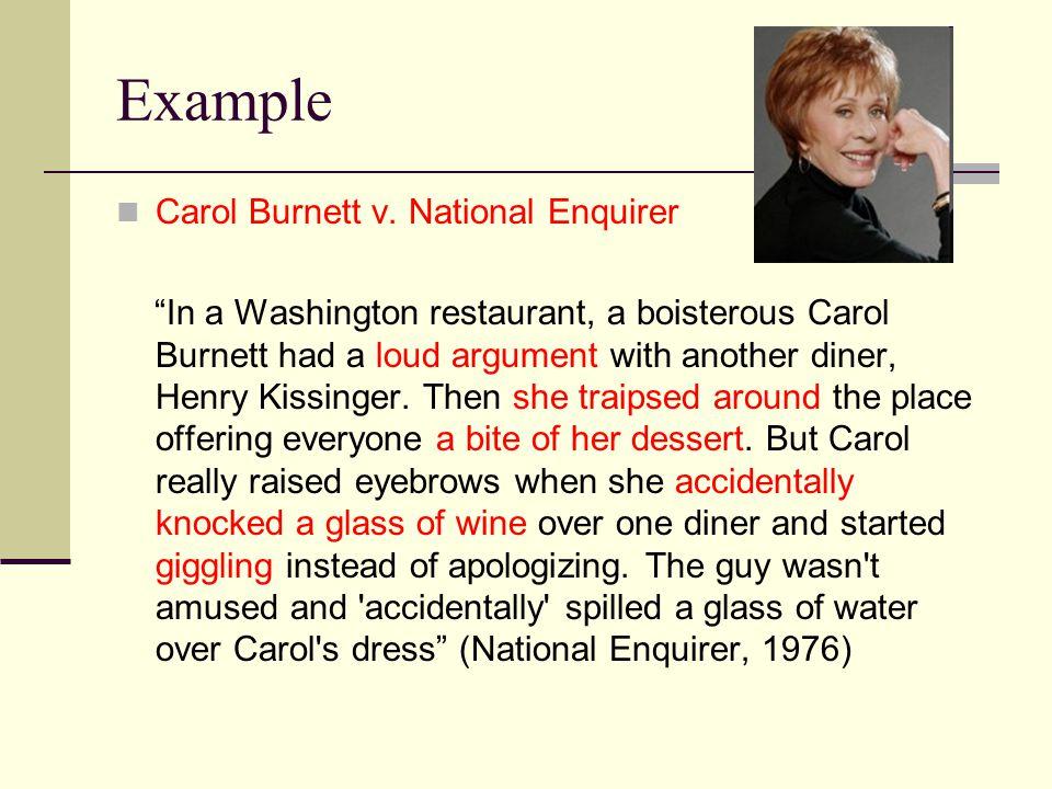 Example Carol Burnett v.