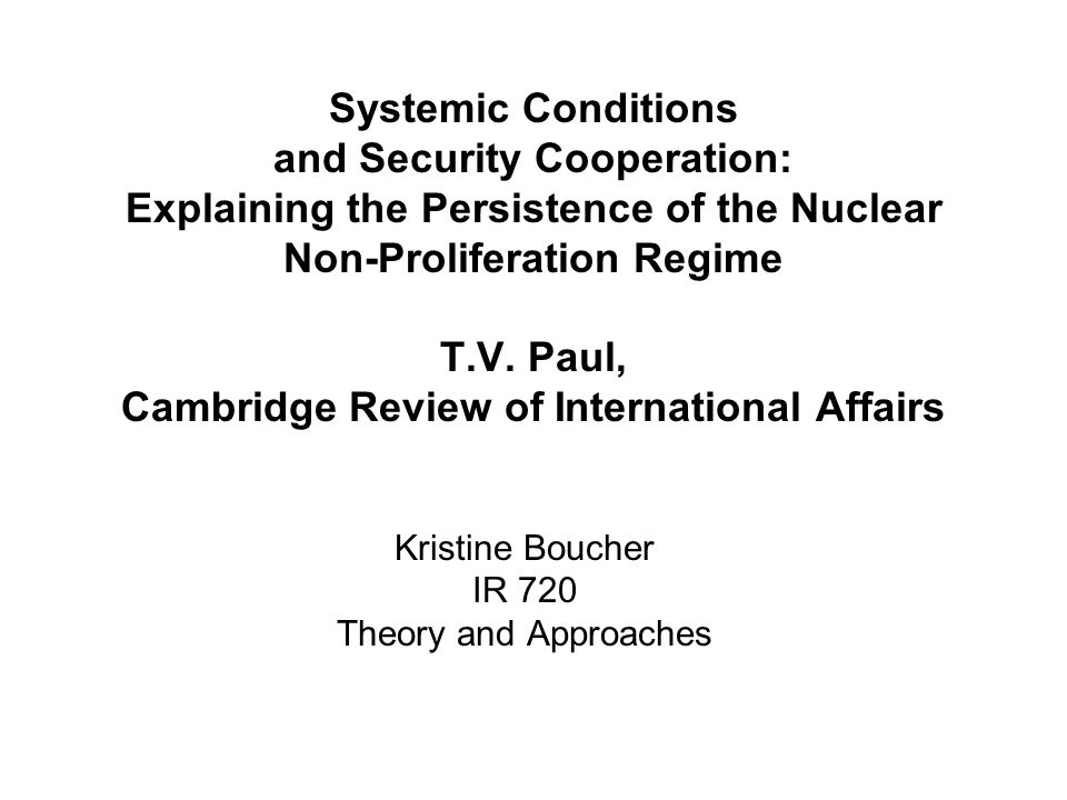 Question 10: Are the costs high for the states that do not abide by the rules of the nuclear non-proliferation regime.