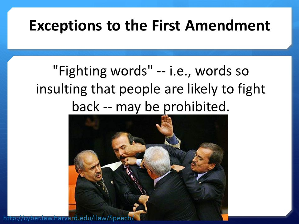 Exceptions to the First Amendment