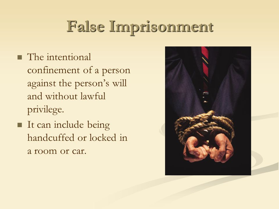 Defamation False statements that injure a person's reputation or good name.