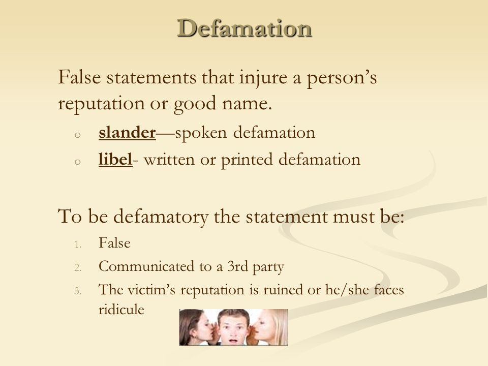Strict Liability Liability that exists even though the defendant was not negligent.
