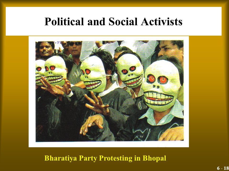 6 - 18 Political and Social Activists Bharatiya Party Protesting in Bhopal