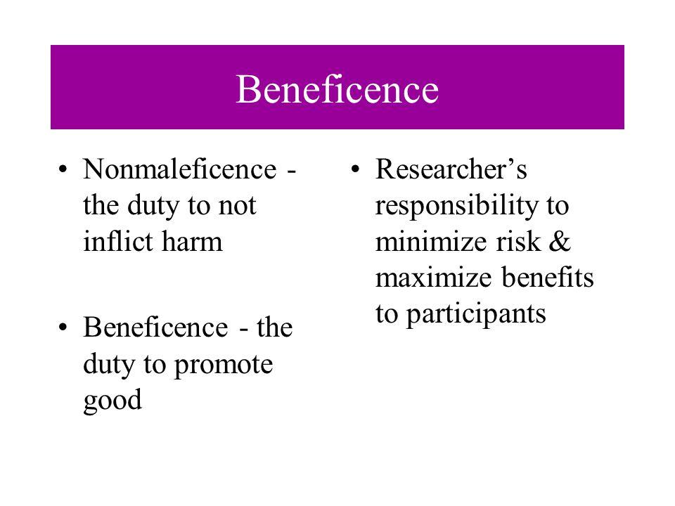 Duty to care vs Duty to advance knowledge Research Imperative vs Therapeutic Imperative When in doubt the therapeutic imperative must take precedence over the research imperative