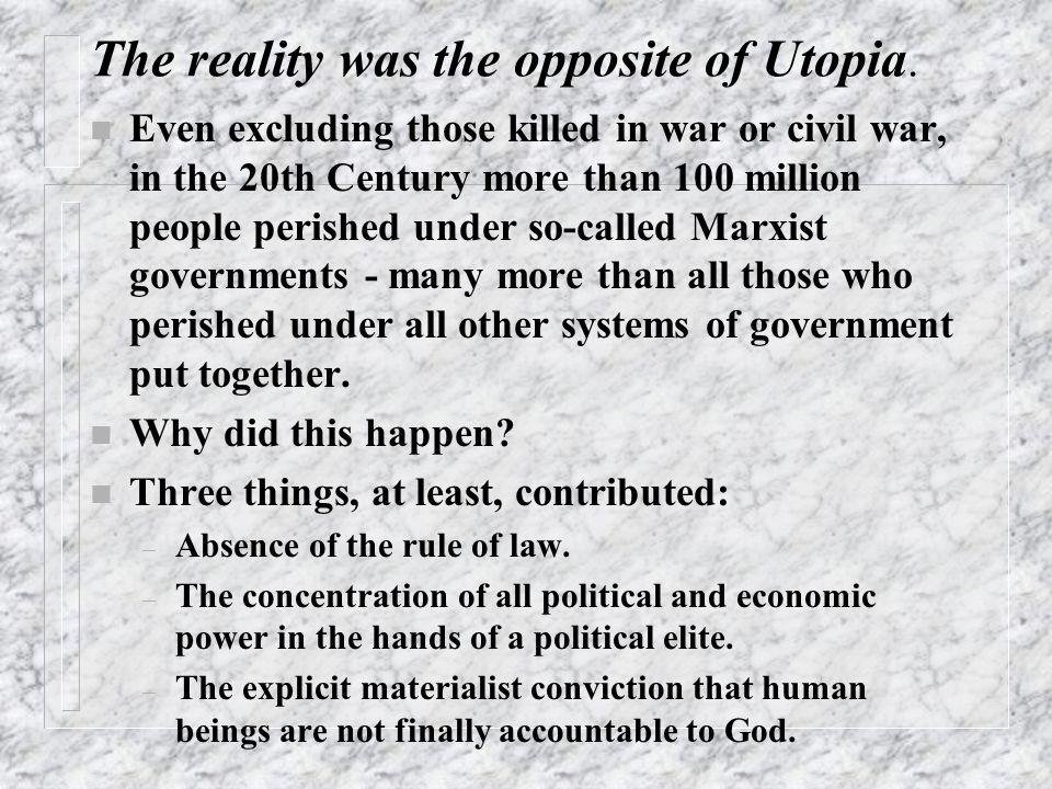 Socialism to Communist Utopia.