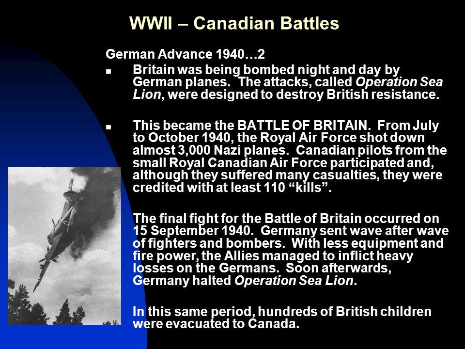 WWII – Canadian Battles Hong Kong 1941 With Western eyes focused on Germany, Japan began capturing European colonies in Asia.