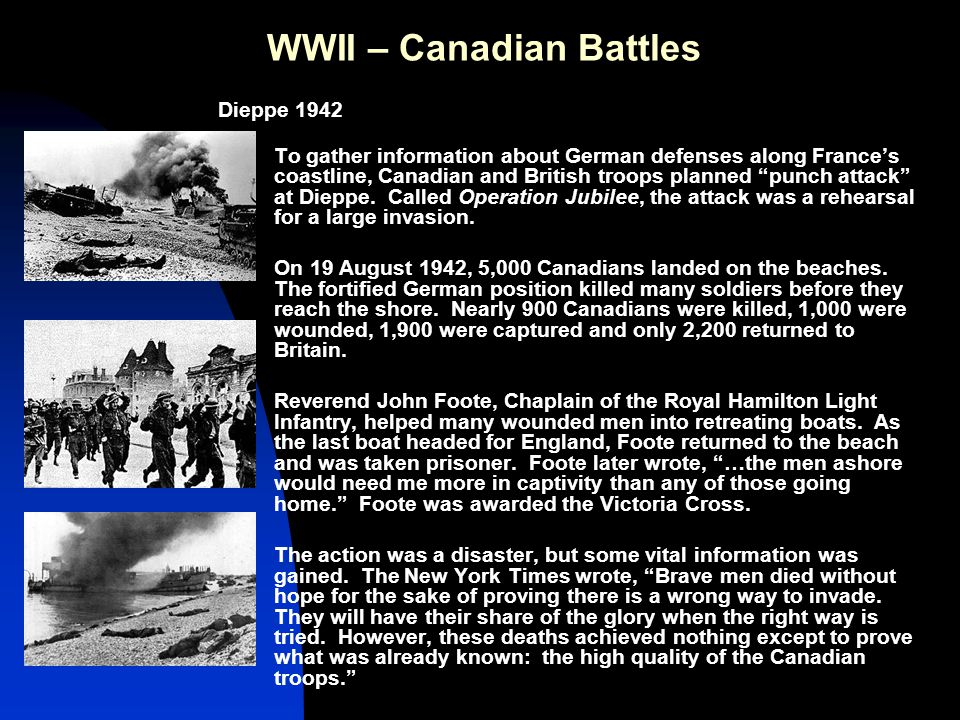 WWII – Canadian Battles At Sea Britain and Russia needed supplies.