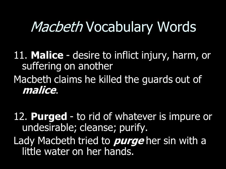 Macbeth Vocabulary Words 11.