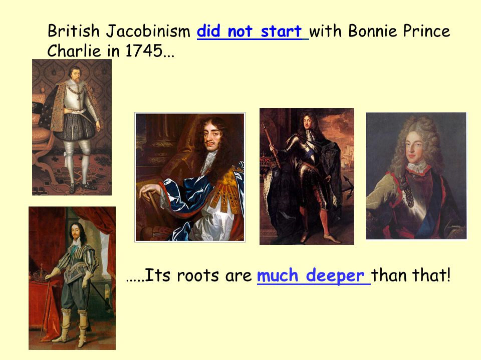 British Jacobinism did not start with Bonnie Prince Charlie in 1745...