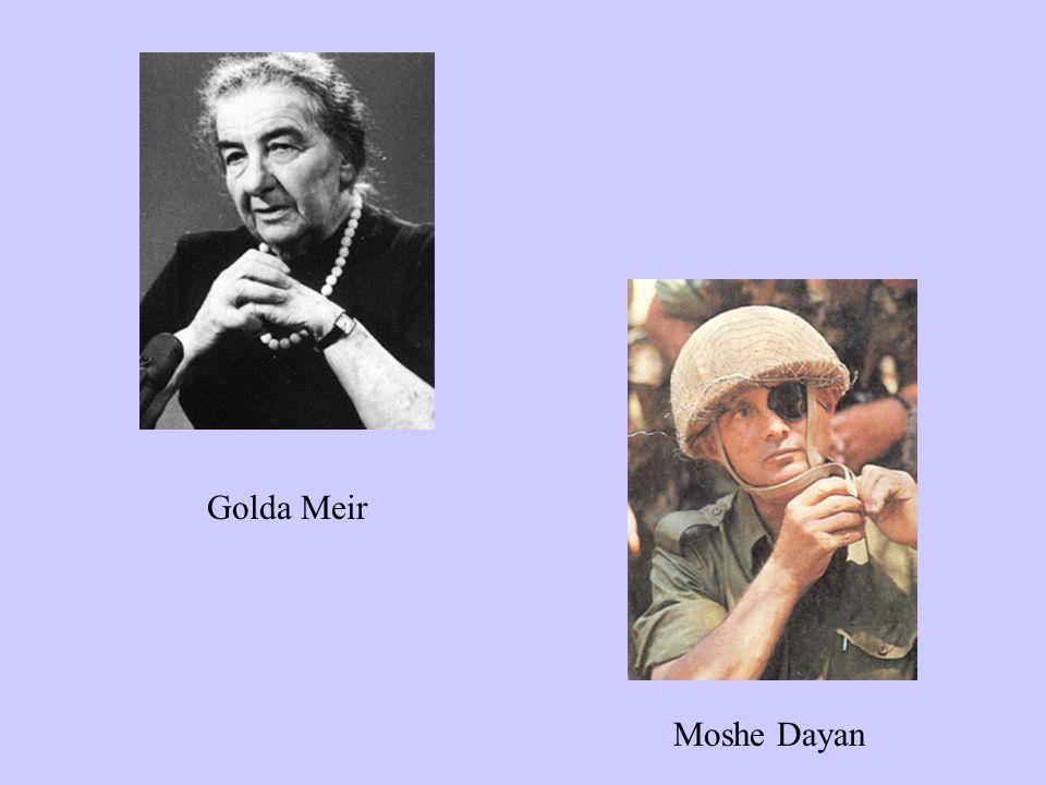 Golda Meir Moshe Dayan