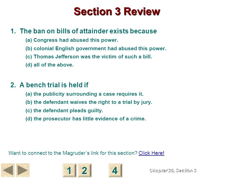 Punishment S E C T I O N 4 Punishment What is the purpose of bail and preventive detention.