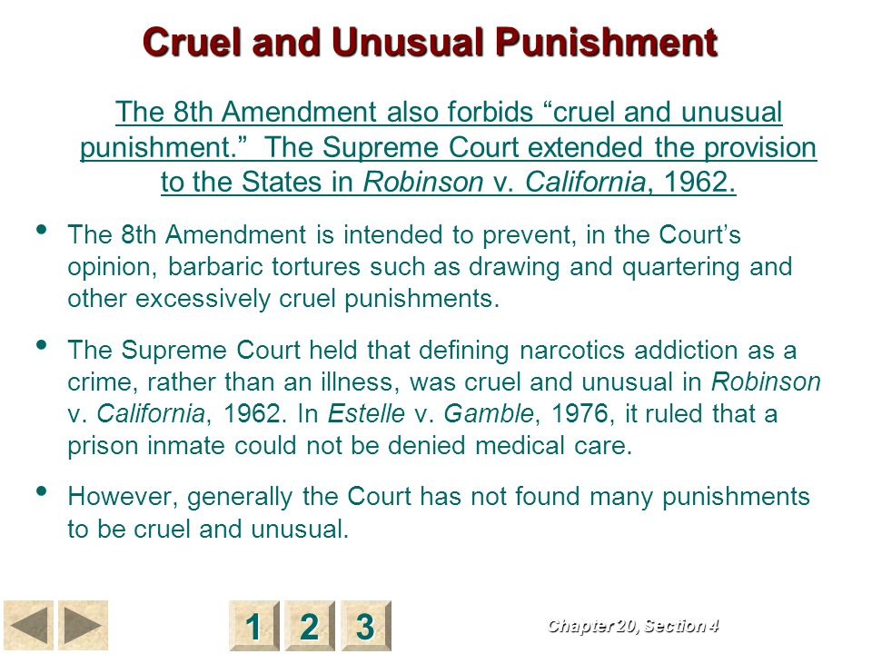 Capital Punishment The Supreme Court voided capital punishment laws in the early 1970s because it felt that the punishment was applied capriciously to only a few convicts, often African American or poor or both.