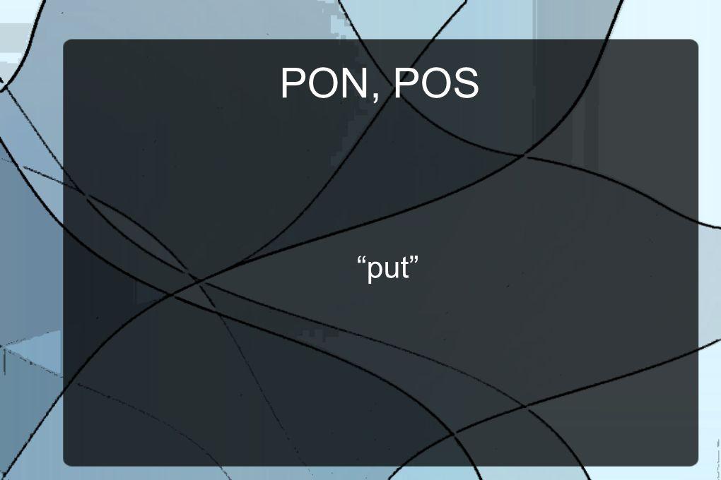 PON, POS put
