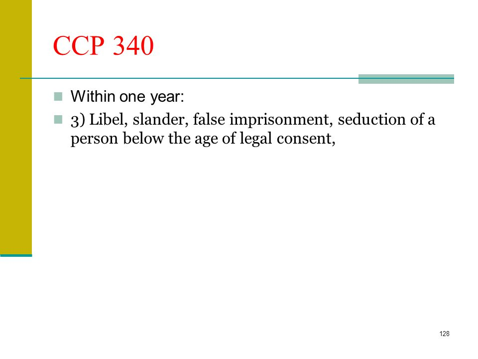 CCP 335.1 Within two years: An action for assault, battery, or injury to, or for the death of, an individual caused by the wrongful act or neglect of