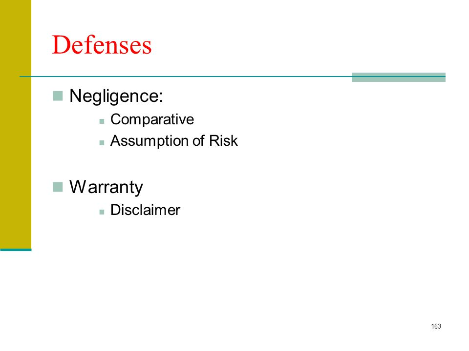 162 Types of Defects Manufacture Design Warning Structural Defects Lack of Safety Features