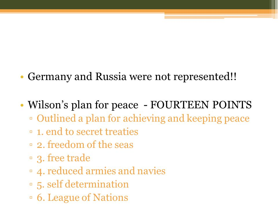 Germany and Russia were not represented!.