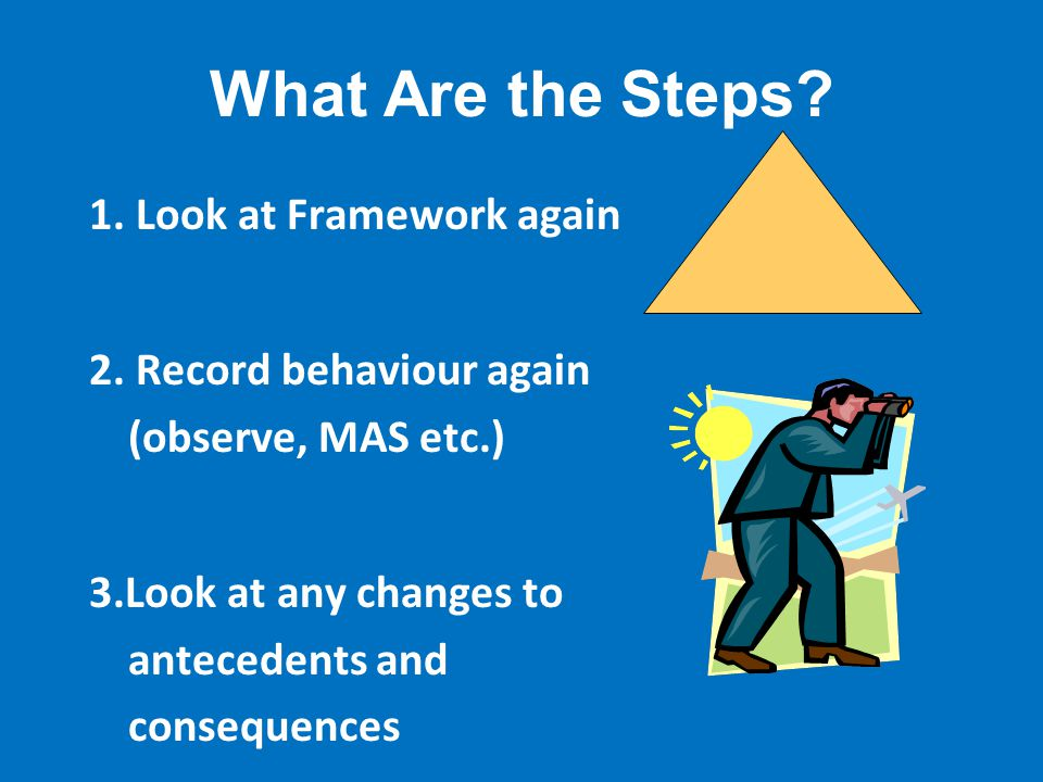 What Are the Steps.1. Look at Framework again 2.