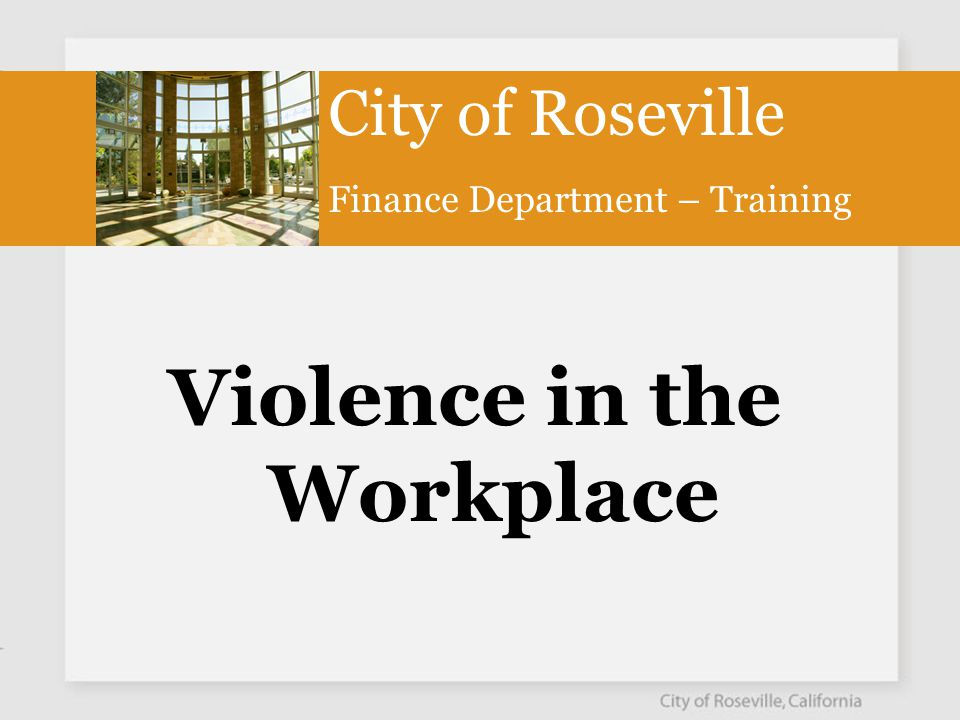 What is Workplace Violence.