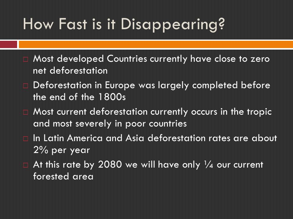 How Fast is it Disappearing.
