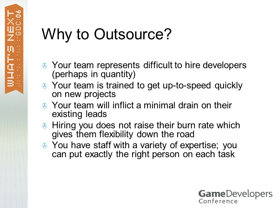 Why to Outsource.