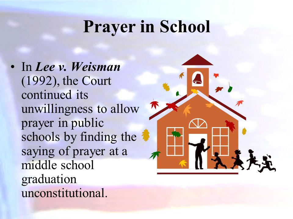 Prayer in School In Lee v.