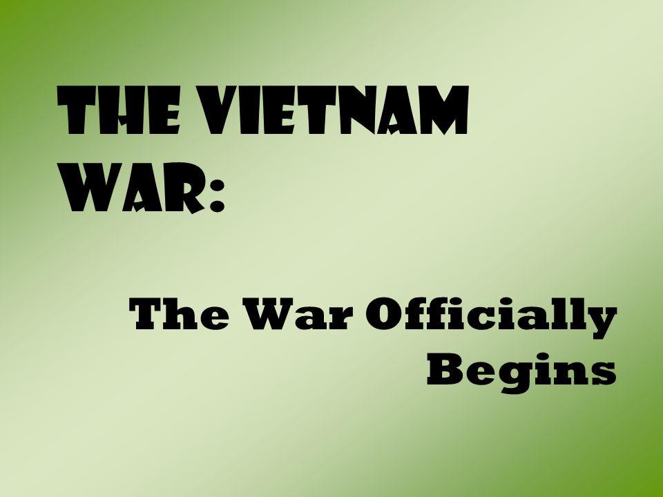I.An Imminent War Begins A.
