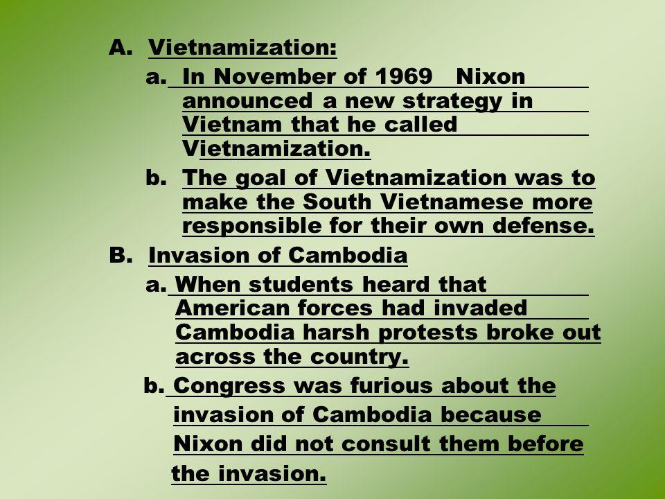 A. Vietnamization: a.