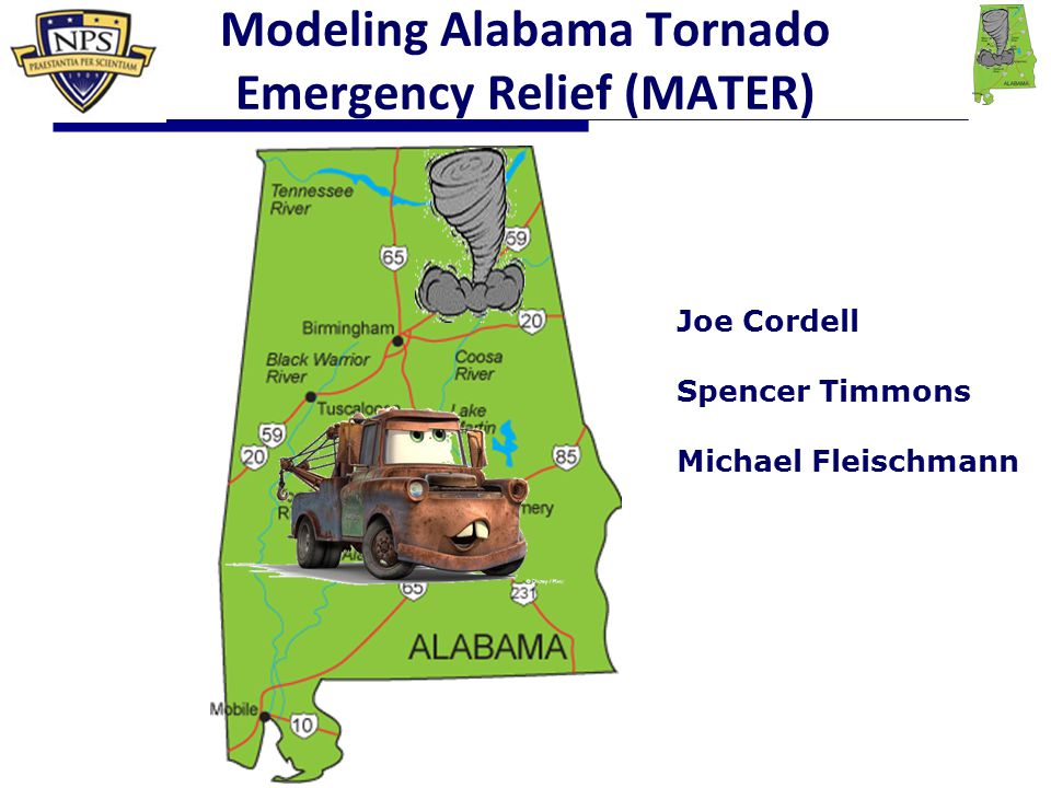 52 Scenario 1 Results  With roads completely destroyed, tornado quickly cuts off access to affected area.
