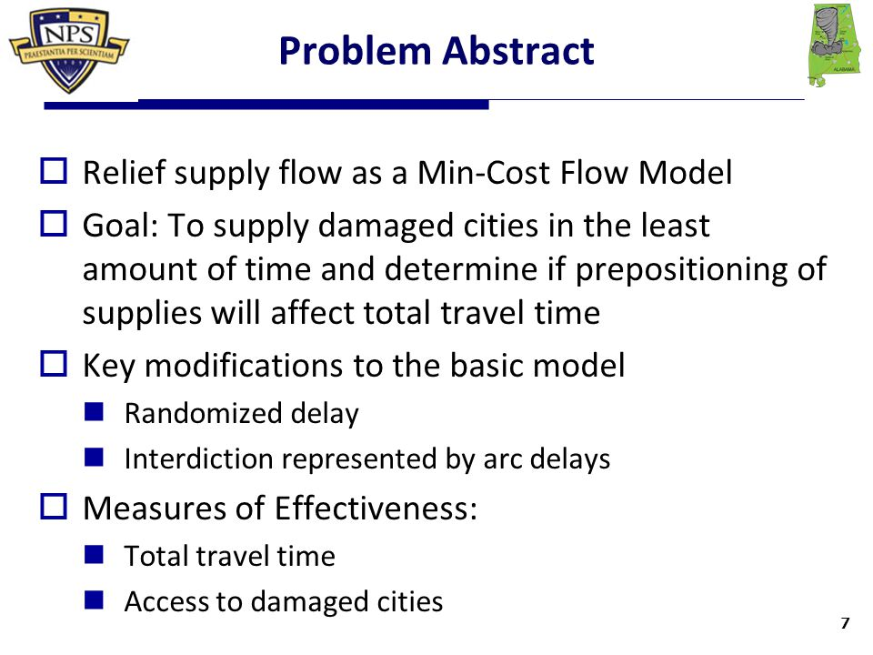 Model Useability  Model is easily customizable to a given scenario Can be used to show movement of supplies to any affected city/area Scalable for multiple damaged cities via adding demands to those nodes Can use flown-in supplies or prepositioned supplies  Useful to quickly formulate delivery plan for FEMA/military responders