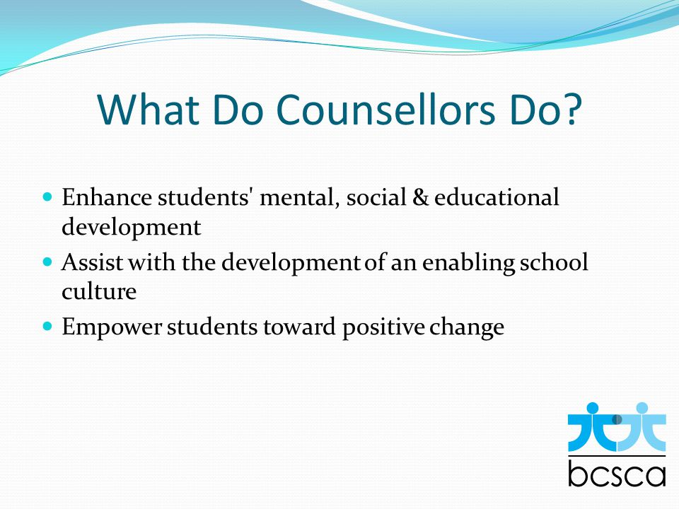 What Do Counsellors Do.
