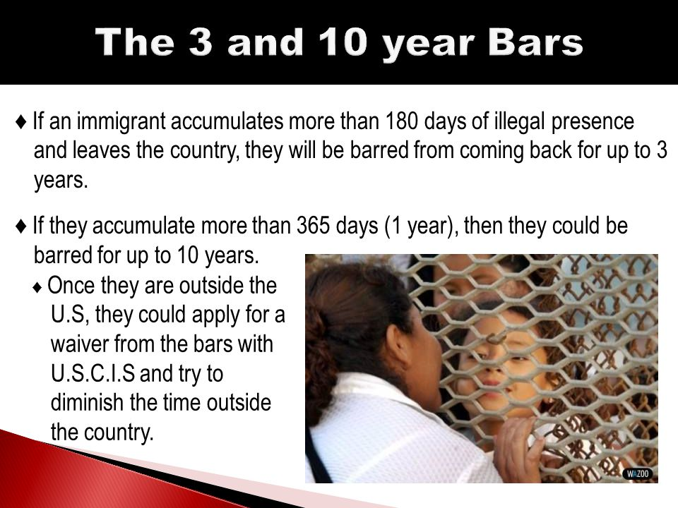 ♦ To qualify for the Waiver, the immigrant needs to prove their absence will inflict extreme hardship on the U.S citizen.