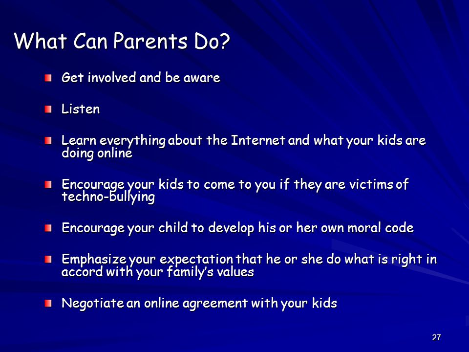 27 What Can Parents Do.