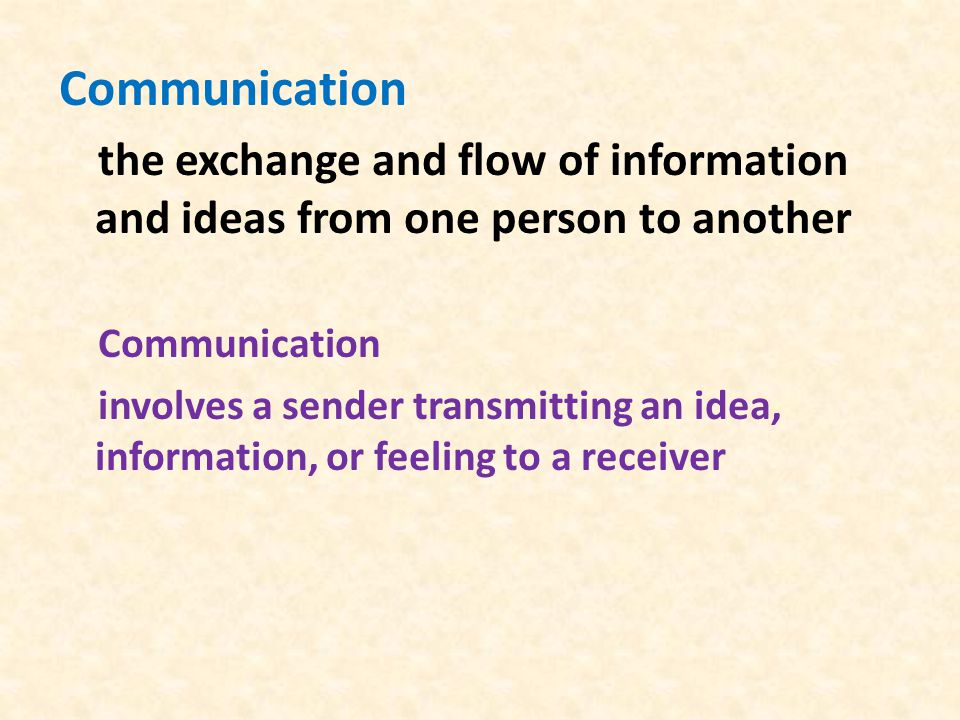 Two elements of transmition of the message: content and context Content : the actual words or symbols (language) Context : the way the message is delivered (nonverbal elements - tone of voice, body language, hand gestures)