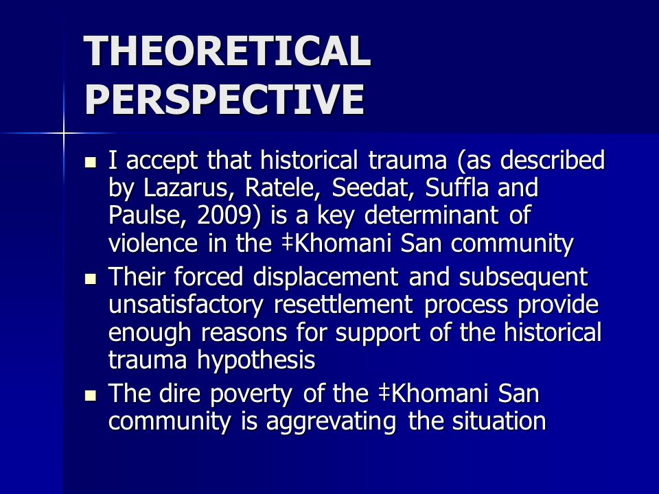 ADDRESSING THE CHALLENGES The ‡Khomani San community is not a monolith of sameness The ‡Khomani San community is not a monolith of sameness There are members who are trying to revive their nearly lost traditional ways, members who live a totally westernised life and members who try to combine the two worlds There are members who are trying to revive their nearly lost traditional ways, members who live a totally westernised life and members who try to combine the two worlds Hence I suggest that intervention strategies need to take such a mixed reality into account Hence I suggest that intervention strategies need to take such a mixed reality into account
