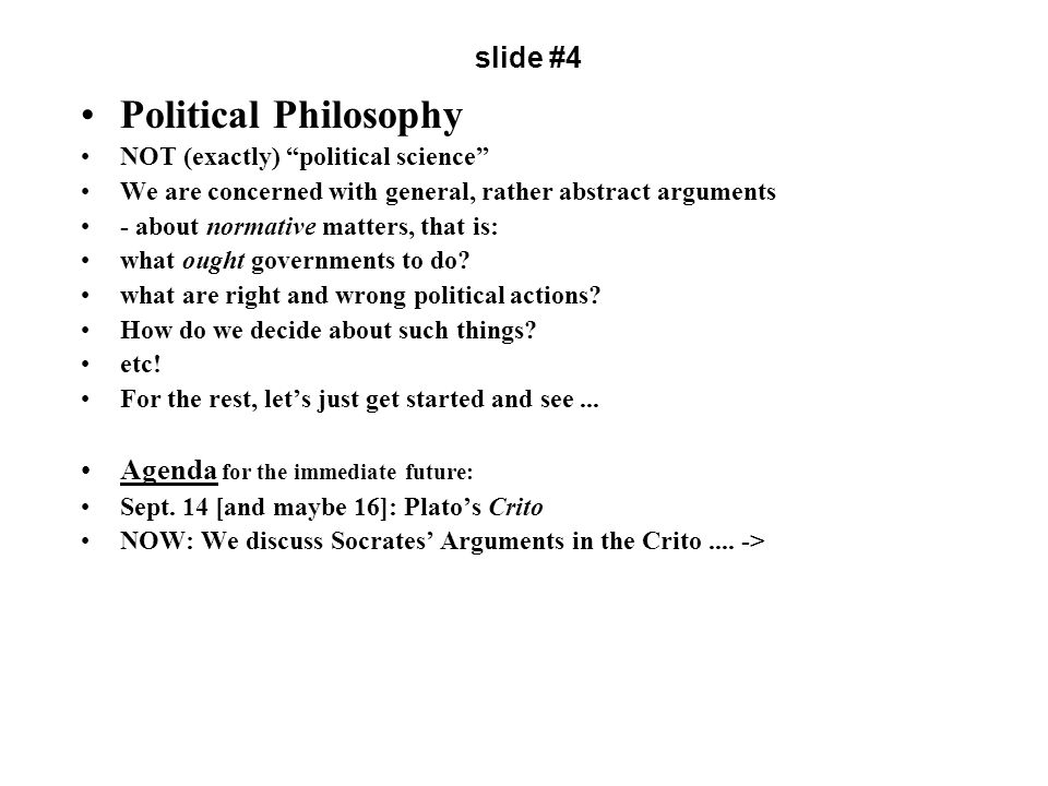 Plato (427-347 B.C.) [author of the dialogue Crito] [scene-setting dialogues: Euthyphro; Apology; Crito; Phaedo] slide # 5 Socrates in the Slammer In the first of those dialogues, Euthyphro, Socrates discusses an important issue, which we'll encounter later (the bearing of religion on morality) In the second, Apology, he explains to the court why he cannot accept their verdict of guilty (to a charge we'd consider spurious), nor their offer of a quiet exile rather than death.