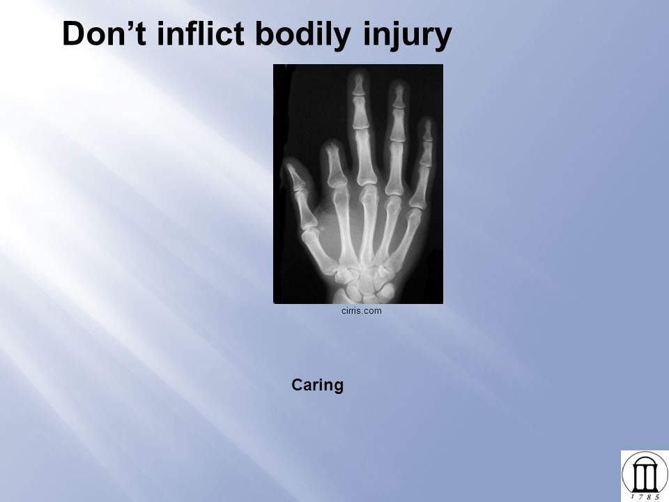 Don't inflict bodily injury Caring cirris.com