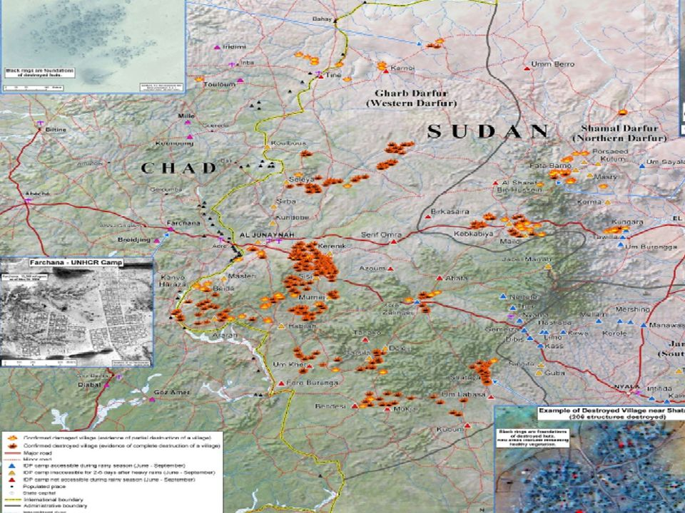 2.5 million refugees and IDPs in Sudan and neighboring Chad.