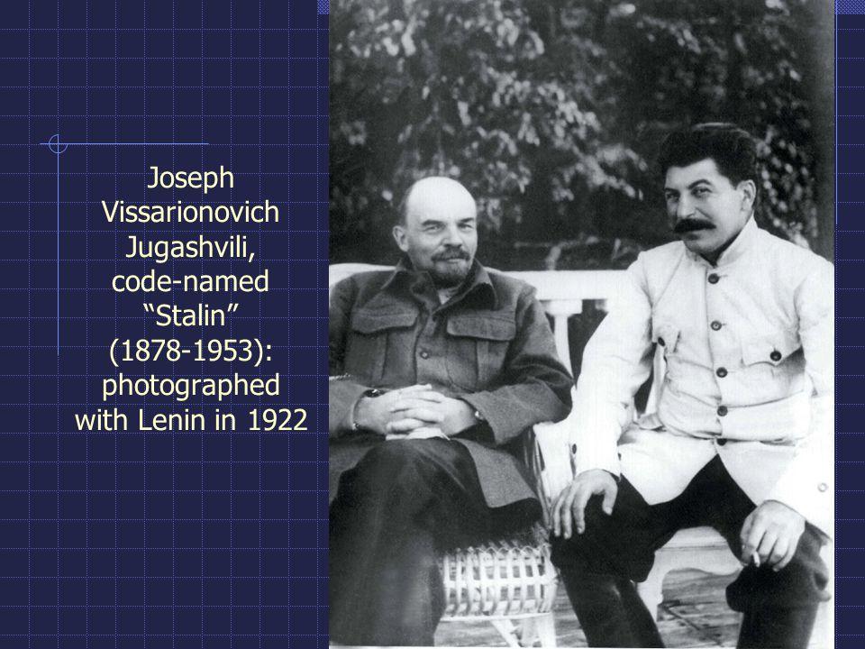 "Joseph Vissarionovich Jugashvili, code-named ""Stalin"" (1878-1953): photographed with Lenin in 1922"