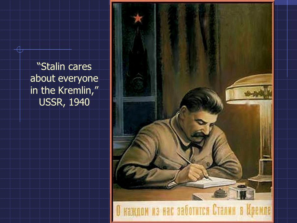 Stalin cares about everyone in the Kremlin, USSR, 1940