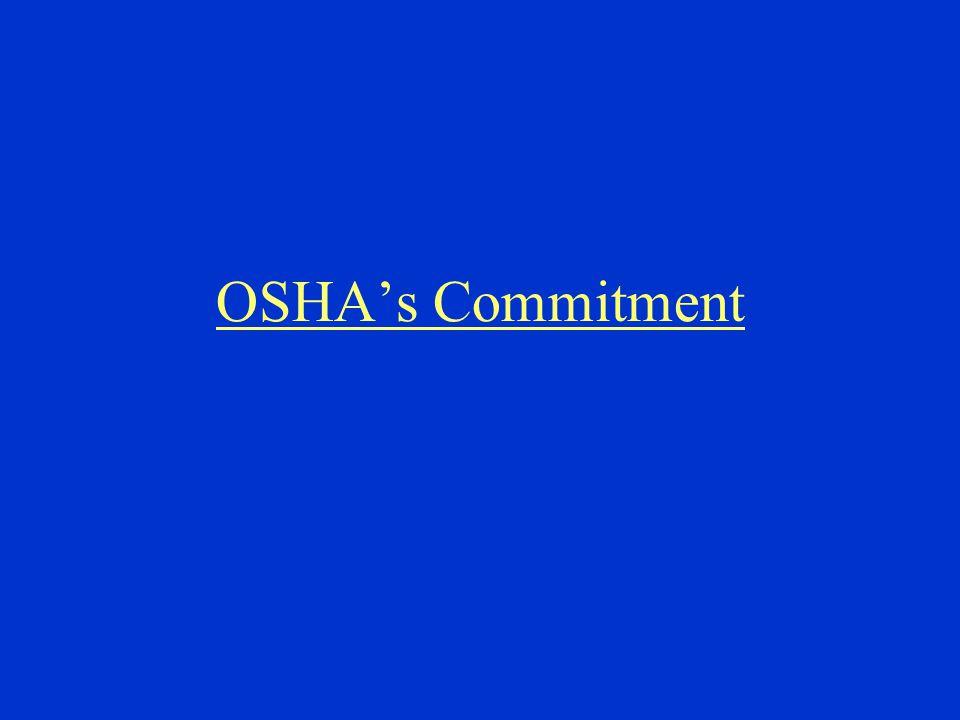 OSHA's Commitment