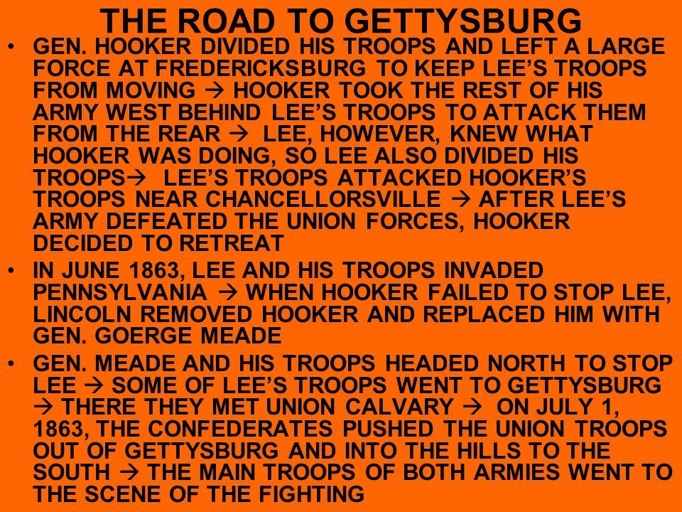THE ROAD TO GETTYSBURG GEN.