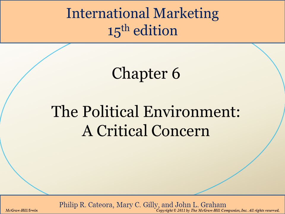 International Marketing 15 th edition Philip R. Cateora, Mary C. Gilly, and John L. Graham McGraw-Hill/Irwin Copyright © 2011 by The McGraw-Hill Compa