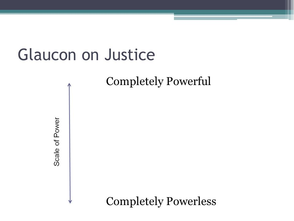 Glaucon on Justice Completely Powerful Completely Powerless Scale of Power