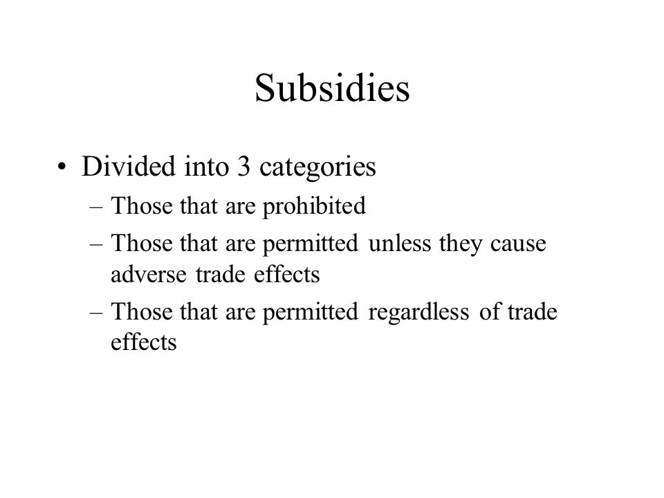 Uruguay Round Improvements in the laws include –stipulations that profit calculations use actual data –Orders must be terminated after 5 yrs –That price comparison must be on a transaction to transaction or average to average basis –Evidence submitted by foreign exporters must be accepted and used –subsidides