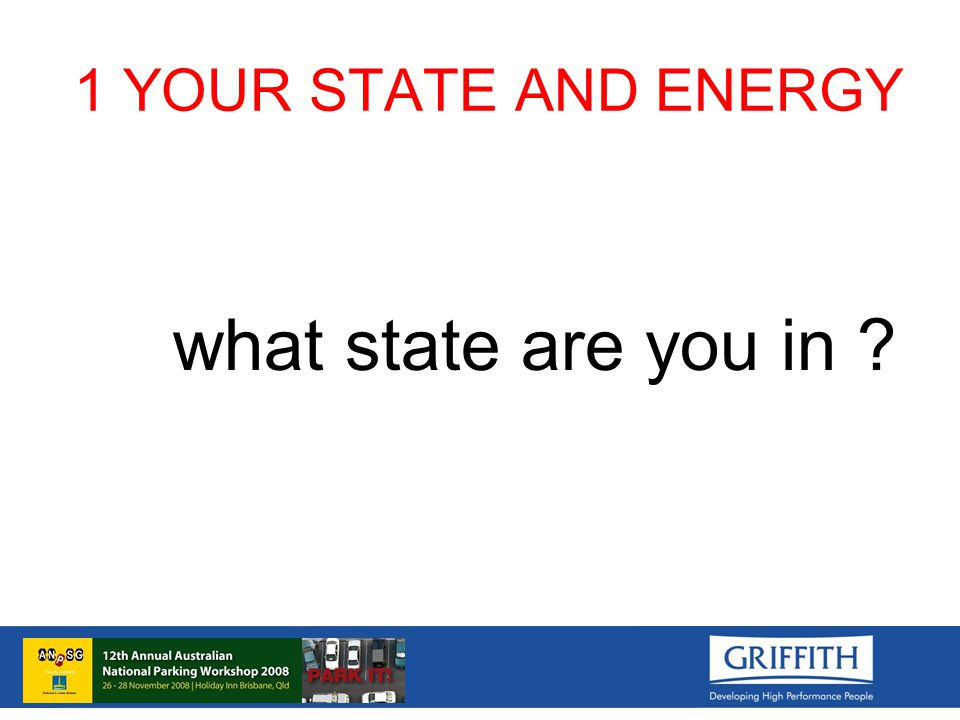 1 YOUR STATE AND ENERGY what state are you in
