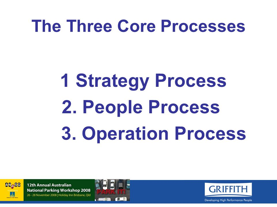The Three Core Processes 1 Strategy Process 2. People Process 3. Operation Process