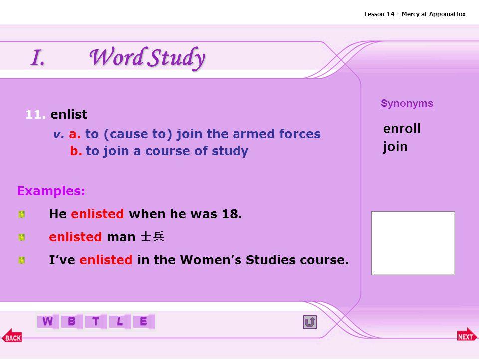 BTLEW I.Word Study 10. dwindle v.