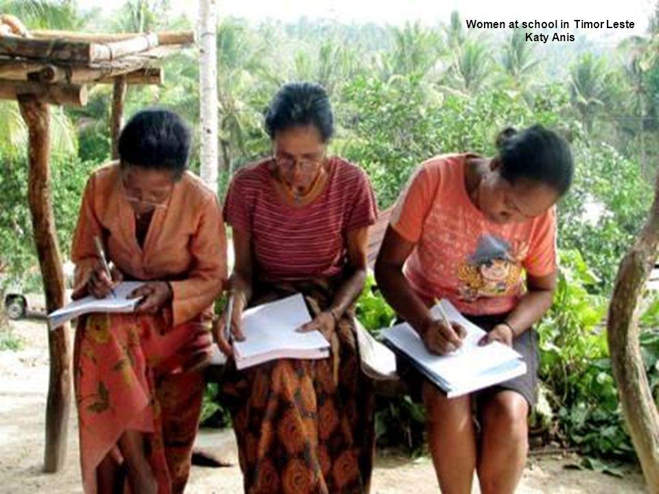 Women at school in Timor Leste Katy Anis