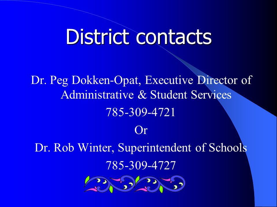 District contacts Dr.